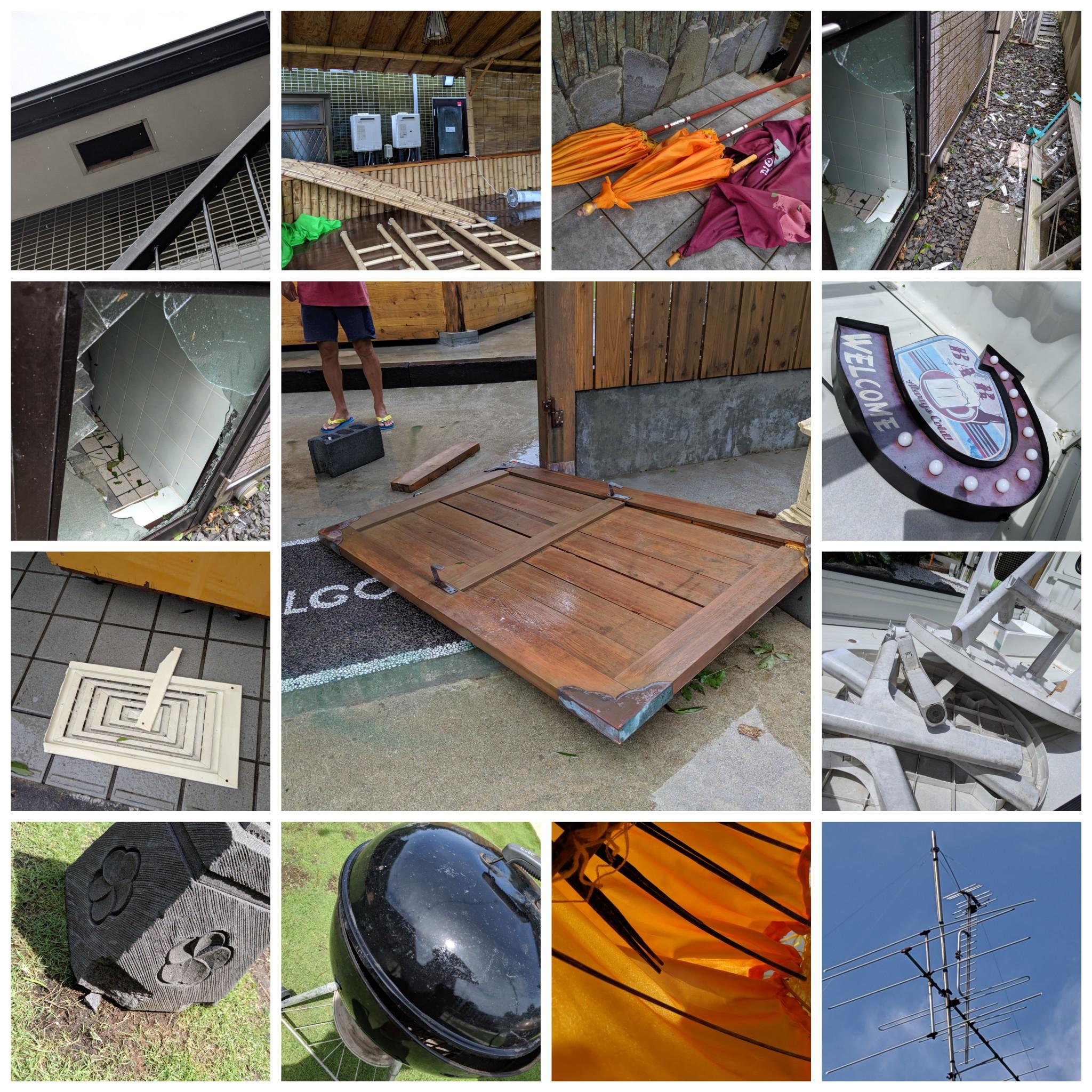 台風による復旧作業の報告
